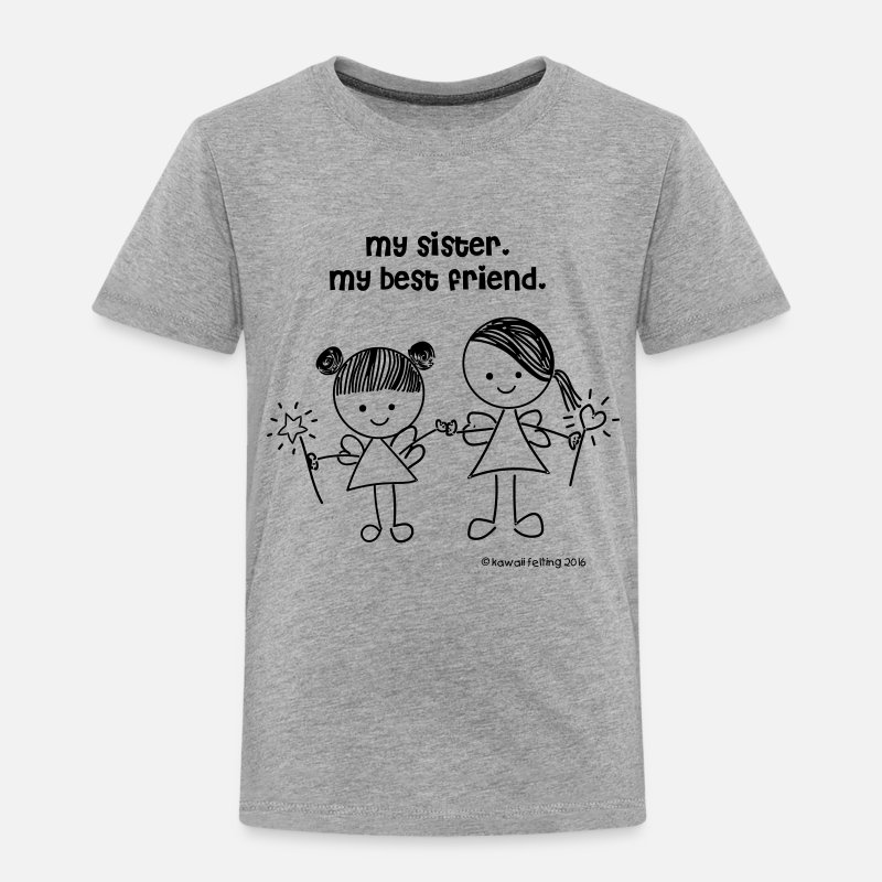 Baby Clothing - my sister, my best friend t-shirt - Toddler Premium T-Shirt heather gray