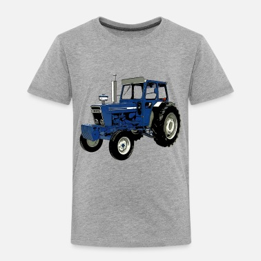 Tractor Old Ford Tractor Blue - Toddler Premium T-Shirt