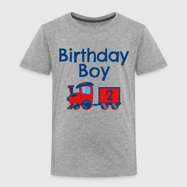 Birthday Boy Train 2 - Toddler Premium T-Shirt