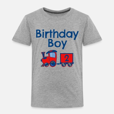 2 Birthday Birthday Boy Train 2 - Toddler Premium T-Shirt