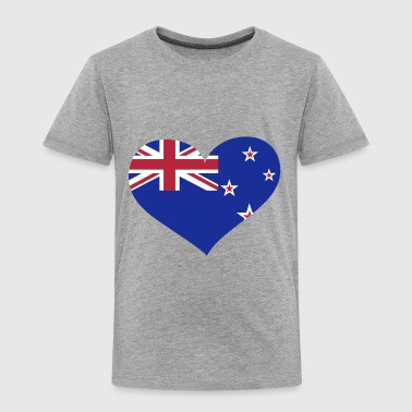 New Zealand Heart; Love New Zealand - Toddler Premium T-Shirt