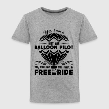 Hot Air Balloon Pilot Shirt - Toddler Premium T-Shirt