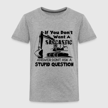 Heavy Heavy Equipment Operator Shirt - Toddler Premium T-Shirt