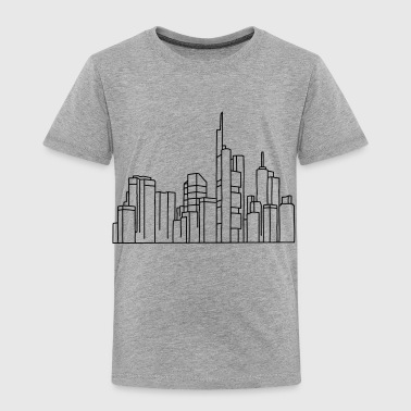 Skyline of Frankfurt - Toddler Premium T-Shirt