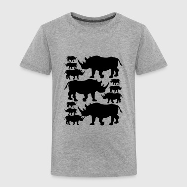 Rhino Shirt - Rhino Love T shirt - Toddler Premium T-Shirt