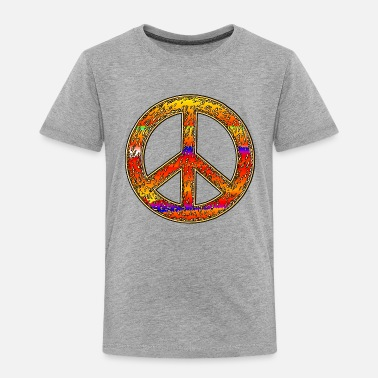 Hippie Rainbow Hippy Peace Sign - Toddler Premium T-Shirt
