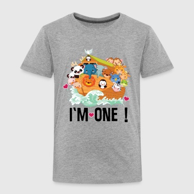 Im One Birthday 1st Birthday Noah Ark Im One - Toddler Premium T-Shirt