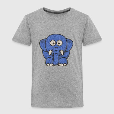 Blue Elephant elephant blue - Toddler Premium T-Shirt