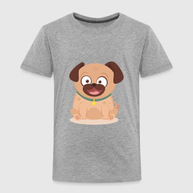 Smiley pug with flat design - Toddler Premium T-Shirt