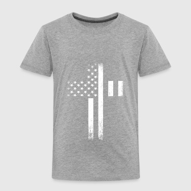 Vintage USA Flag Cross - Toddler Premium T-Shirt