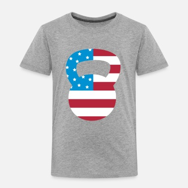 Flags Kettlebell Kettlebell American Workout - Toddler Premium T-Shirt