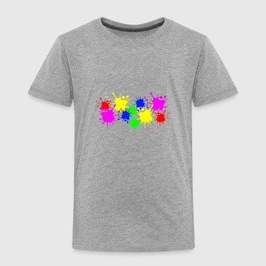 Splashes of color splashes of color color color du - Toddler Premium T-Shirt