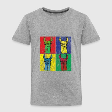 Alpaca Llama Pop Art - Toddler Premium T-Shirt