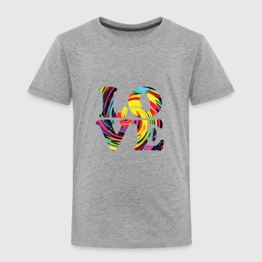 LOVE RAINBOW LETTERS 1 - Toddler Premium T-Shirt