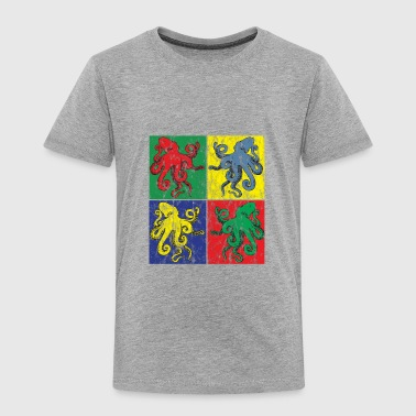 Pop Art Octopus Used Look - Toddler Premium T-Shirt