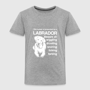 Protected By Labrador Shirt - Toddler Premium T-Shirt