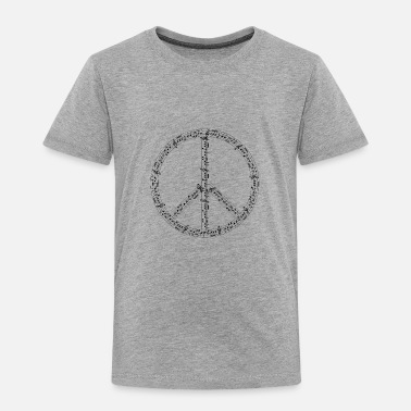 Peace Sign music peace sign - Toddler Premium T-Shirt