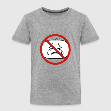 shield prohibited not allowed face head sad cry ho - Toddler Premium T-Shirt