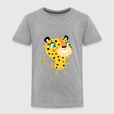 Leopard funny African cartoon animal vector image - Toddler Premium T-Shirt