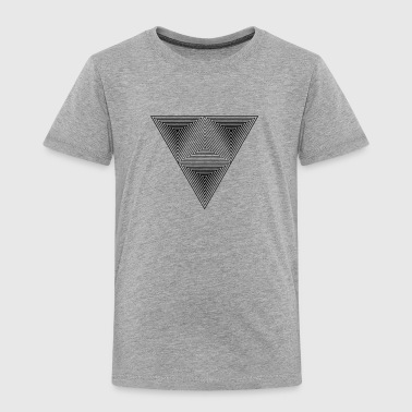 Optical illusion (Hipster triangle) Black & White  - Toddler Premium T-Shirt