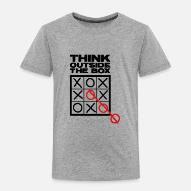 Tic Tac Toe OUTSIDE THE BOX - Toddler Premium T-Shirt