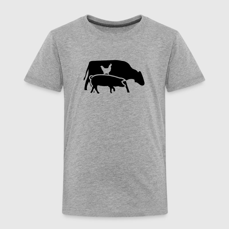 Cow, pig and cock - Toddler Premium T-Shirt