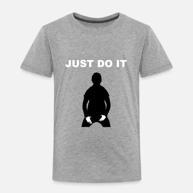 Do Baby Clothing - JUST DO IT - SHIA LABEOUF - Toddler Premium T-Shirt heather gray