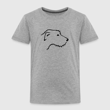 Irish Wolfhound head - Toddler Premium T-Shirt