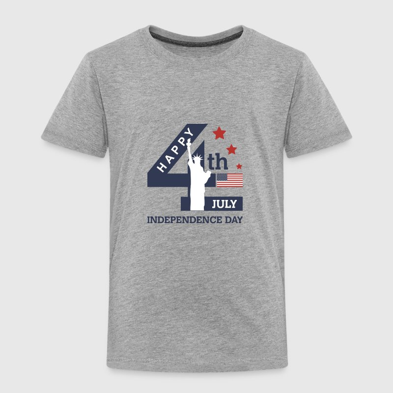 4th of July - Happy Independence Day - Toddler Premium T-Shirt