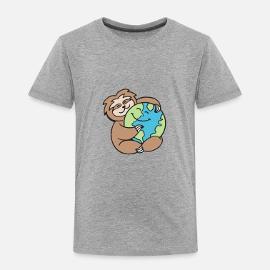 Sloth Worldy Sloth - Toddler Premium T-Shirt