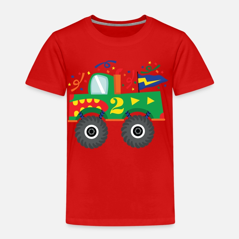 2nd Birthday Monster Truck Fun Toddler Premium T Shirt
