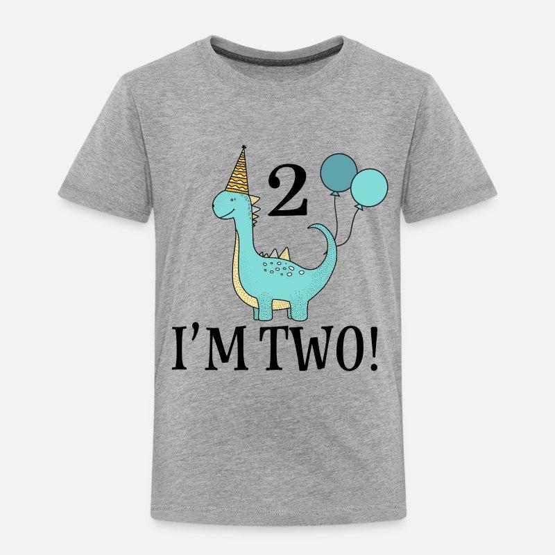 2nd Birthday Dinosaur Party Toddler Premium T Shirt