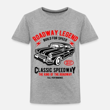 Vintage Roadway Legend - Vintage, Classic Car T shirt - Toddler Premium T-Shirt