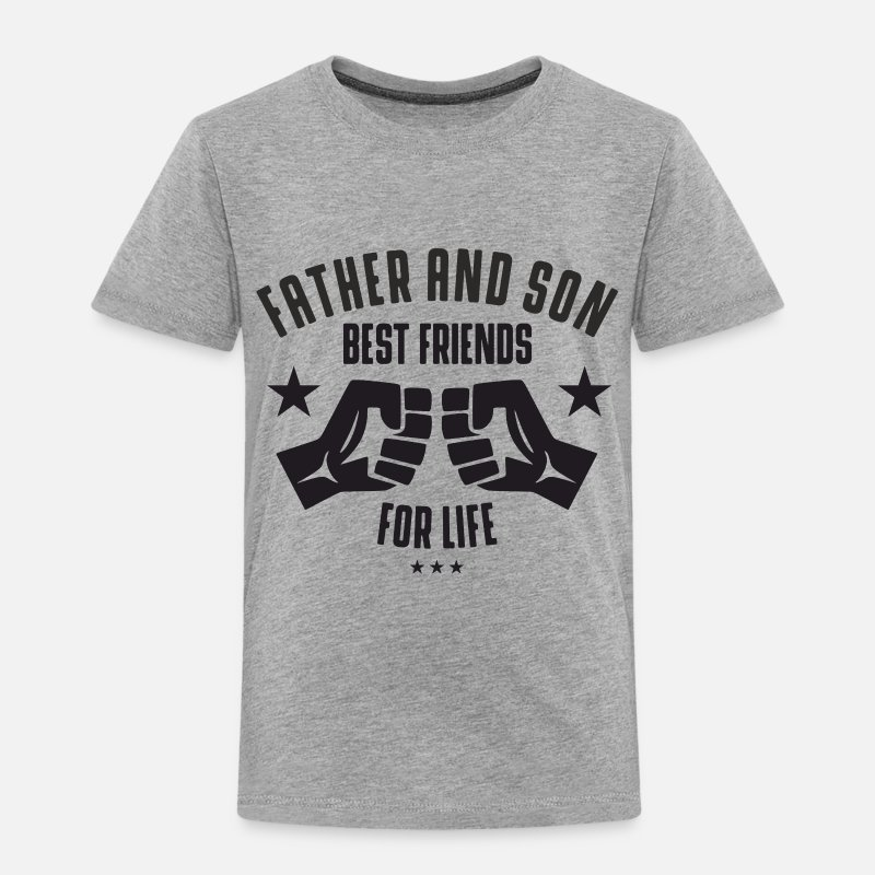 Son Baby Clothing - Father and Son best friends for life  - Toddler Premium T-Shirt heather gray