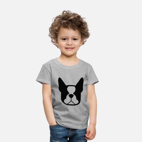 Biology Baby Clothing - Funny Dog Head (Black) - Toddler Premium T-Shirt heather gray