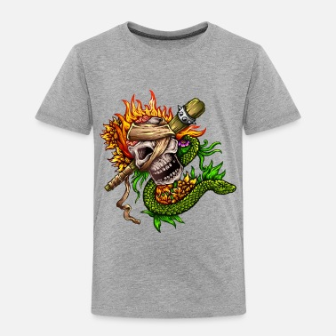 Tattoo Classic Tattoo Fire Skull Snake - Toddler Premium T-Shirt