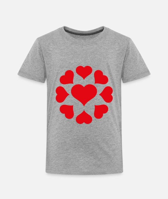 Red T-Shirts - hearts - corazones - Toddler Premium T-Shirt heather gray