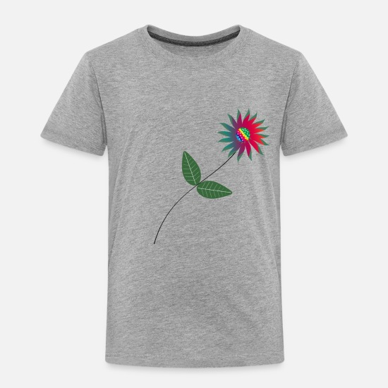Colorful Baby Clothing - Flower, abstract flower, colors, colorful, flowers - Toddler Premium T-Shirt heather gray