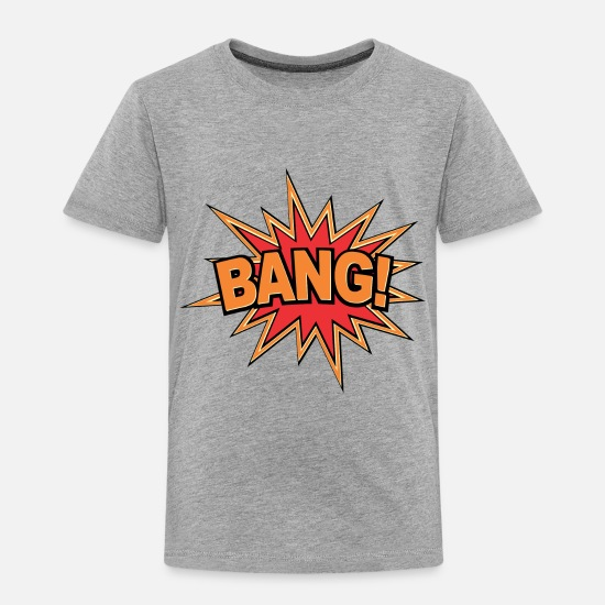 Comics Baby Clothing - Bang Comic - Toddler Premium T-Shirt heather gray