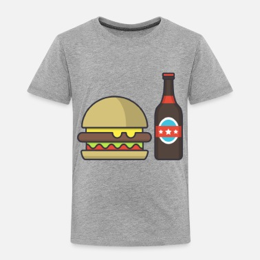 Beer Burger and beer - Toddler Premium T-Shirt