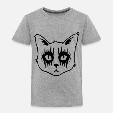 Metal Black Metal Cat - Toddler Premium T-Shirt