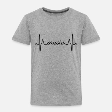 Music Club Music ECG heartbeat - Toddler Premium T-Shirt