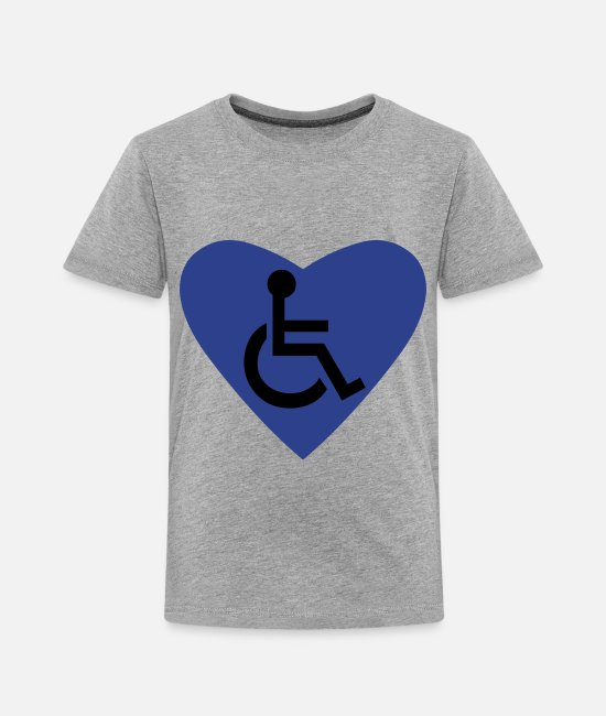 Disability T-Shirts - Disability Symbol - Toddler Premium T-Shirt heather gray