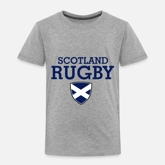 Rugby Baby Clothing - Scotland flag design - Toddler Premium T-Shirt heather gray
