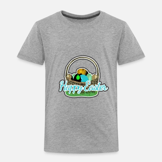 Easter Baby Clothing - Easter basket of the Easter Bunny - Toddler Premium T-Shirt heather gray