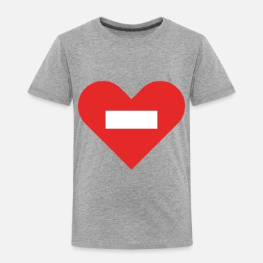 Cuore no entry heart - Toddler Premium T-Shirt