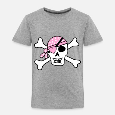 Map pirate ship boat pirat piratenschiff schiff skull9 - Toddler Premium T-Shirt