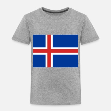 Iceland country flag love my land patriot - Toddler Premium T-Shirt