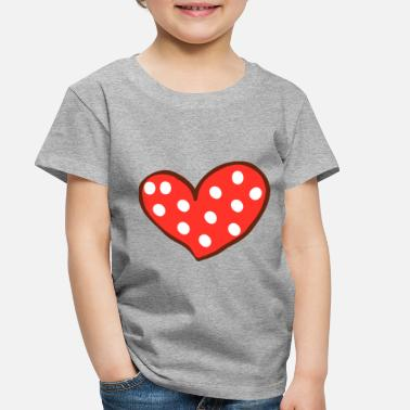 I Love Red Heart I Love You Valentines Day - Toddler Premium T-Shirt