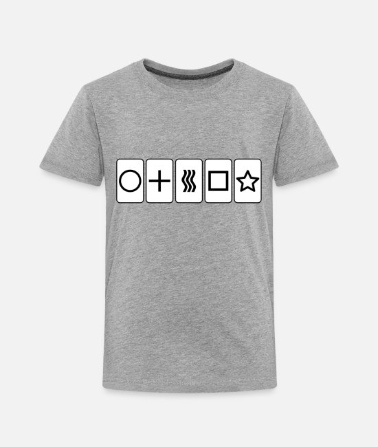 Ghosts T-Shirts - Zener Cards - Toddler Premium T-Shirt heather gray